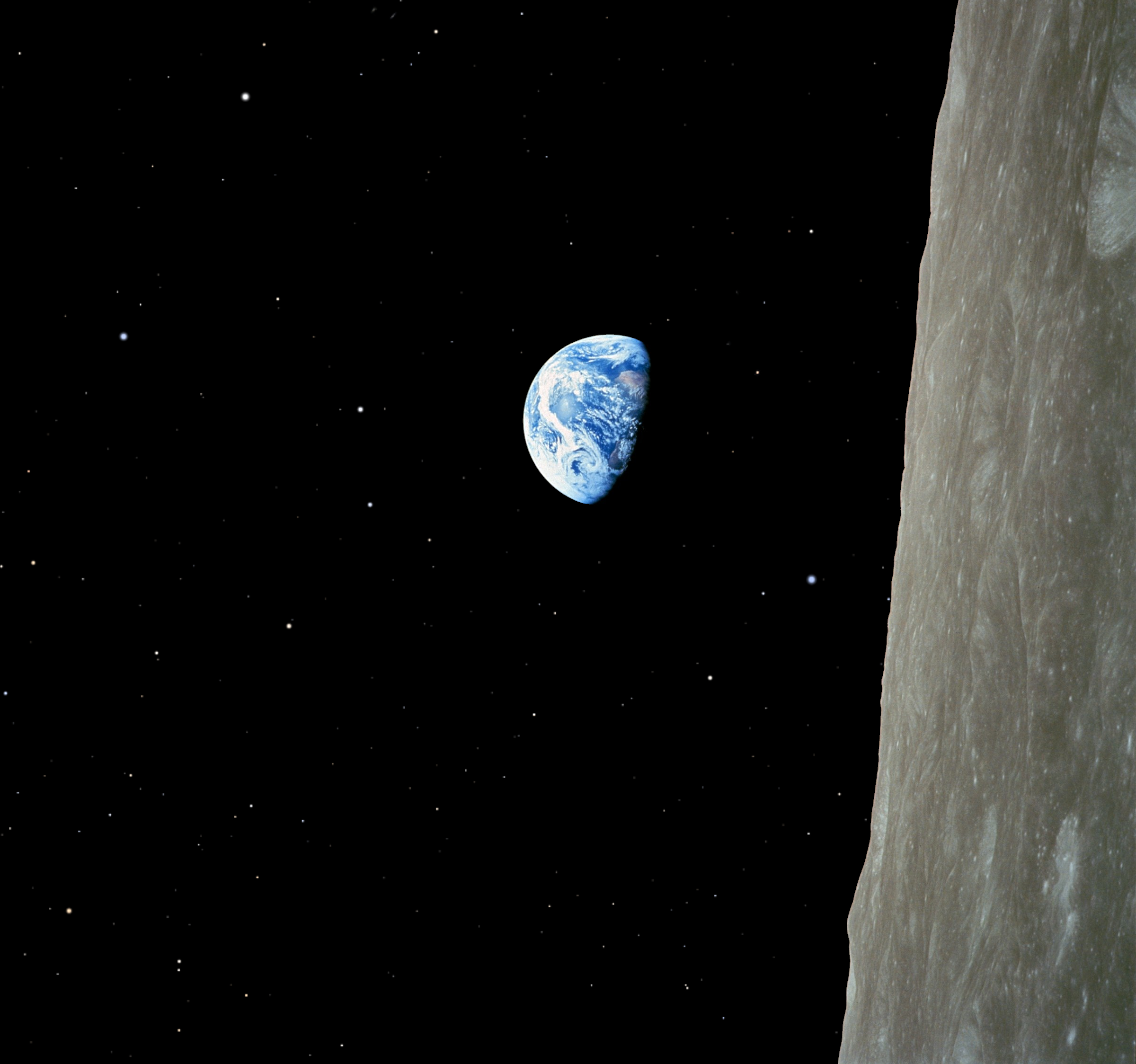 Earthrise – Image manipulation – Keep Calm and Carry on Coding